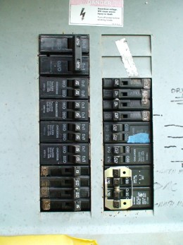 Individual circuit breakers should be labeled with a permanent marker.