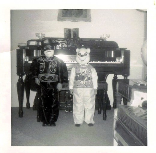 "My brother dressed as ""Zorro"" and me as ""Winnie The Pooh"""