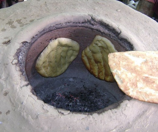 cooking Bread in Tandoor