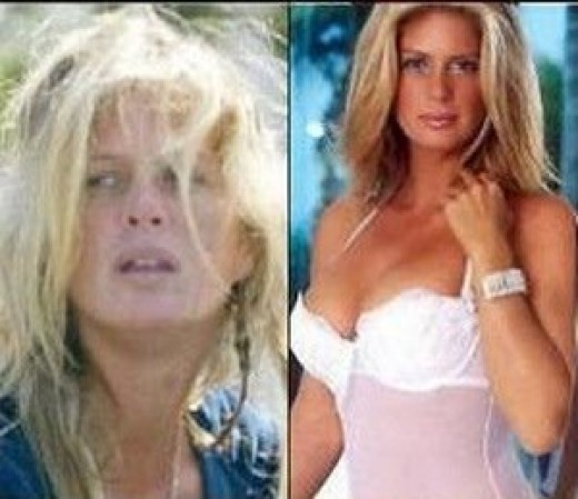 Models are used to make up and Rachel Hunter should never go without hers