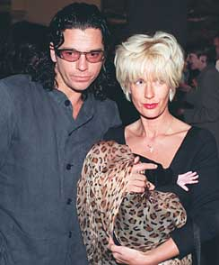 Paula Yates with Michael Hutchence