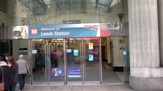 Entrance to Leeds Railway Station ,