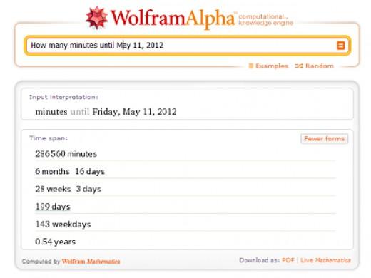 Wolfram|Alpha Search
