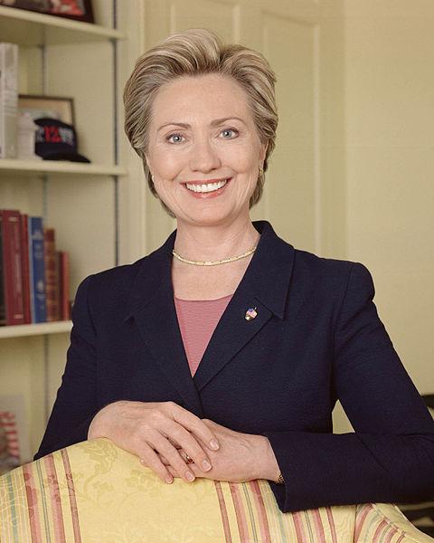 Former First Lady Hillary Rodham Clinton