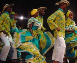 Afro-Colombian culture displayed through dance.