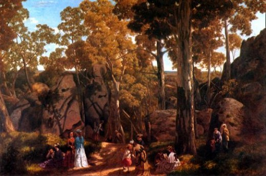 Picnic At Hanging Rock painted by William Ford in 1875