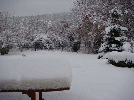 After a snow Storm in Paris, France