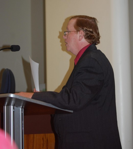 Me before Spartanburg County Council, presenting the Animal Care and Protection Act.