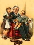 THIS, TO ME, IS A PICTURE OF THE IDEAL GRANDPA. SHARING TIME AND TEACHING HIS GRANDKIS VALUE LIFE LESSONS.