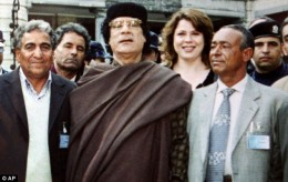 Galyna Kolotnytska with Ghadafi, undated picture