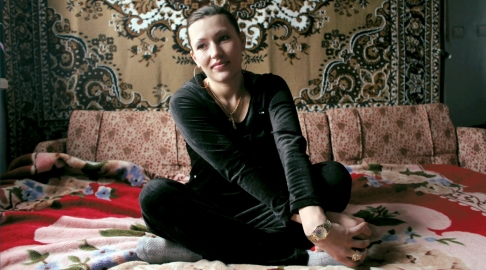 Oksana Balinskaya, at her home in Kiev