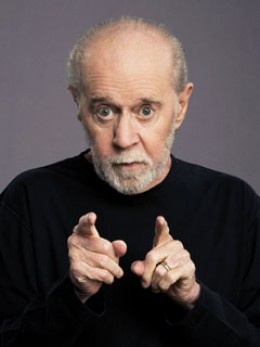 The late cutting edge stand up comedian. George Carlin was a thinker who translated serious matters into humour.