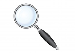 Black Magnifier glass on white