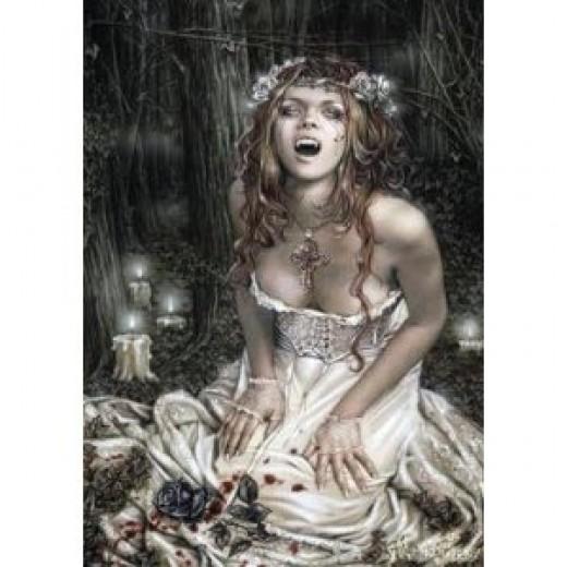 Poster Title: Victoria Frances (Vampire Girl) Art Poster Print - 24x36 Poster Print, 24x36  Artist: Victoria Francés