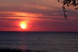 Red Setting Maui Sun