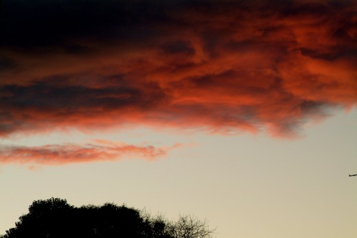 California Fire Red Angry Sky