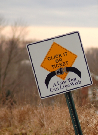 """""""Click It or Ticket"""" campaigns across the country are aimed at encouraging motorists to wear seat belts."""
