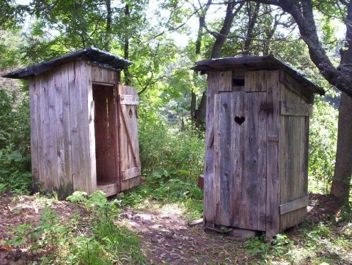 "Using the ""outhouse"" style of smokehouse construction is popular in rural settings"