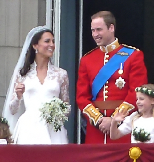 Duchess of Cambridge with Prince William