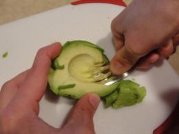 mash the avocado