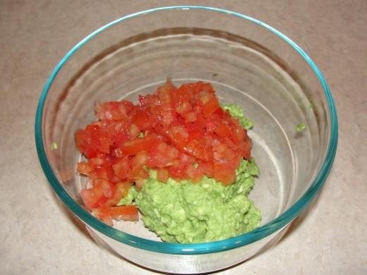 avocado and tomato done