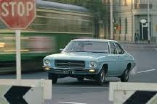 The HQ Holden 1972.  The first of a long line with the same shape.  Great car.