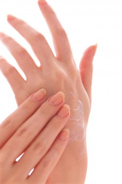 Trimmed fingernails with Clear Polish