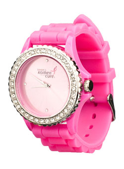Get your pink on with this adorable watch!