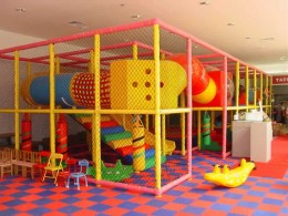 Indoor playground. They can be a lot of FUN for kids, if they are kept clean.