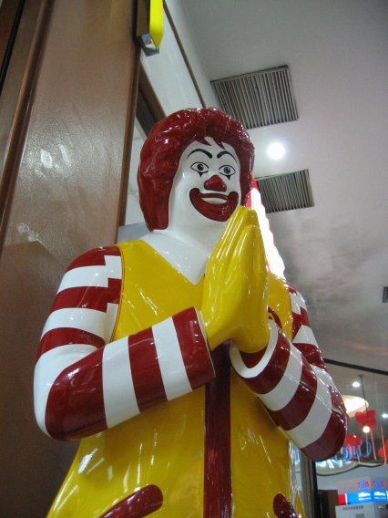 Ronald McDonald, picture taken at the Century Shopping Mall, Bangkok.