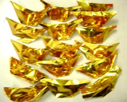 Golden joss paper in the form of ancient real gold money (yuanbao)