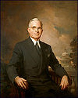 Harry S. Truman (1884–1972) Served April 12, 1945 to January 20, 1953 Presidential portrait of Harry Truman. Official Presidential Portrait painted by Greta Kempton.