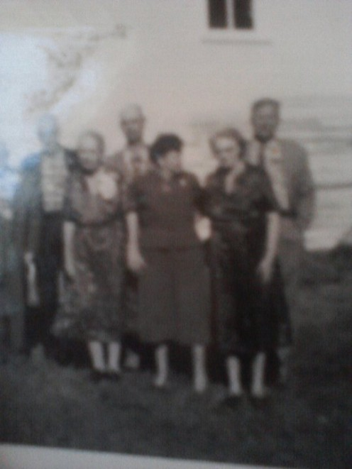 A Family Group with My Grandmother on the Far Right.