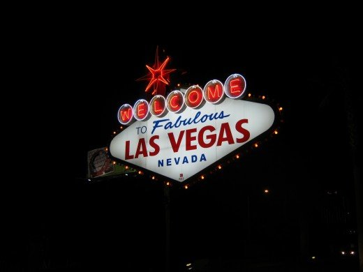"""Welcome To Las Vegas"" sign."