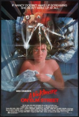 The poster for the original, A Nightmare on Elm Street