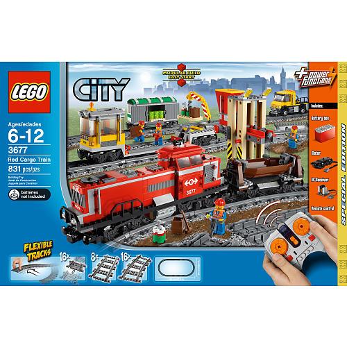 Lego City Red Cargo Train 3677