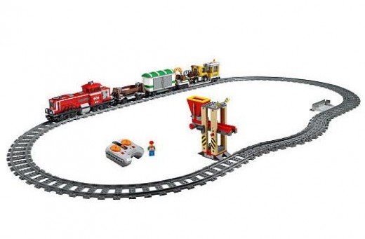 Lego City Red Cargo Train 3677