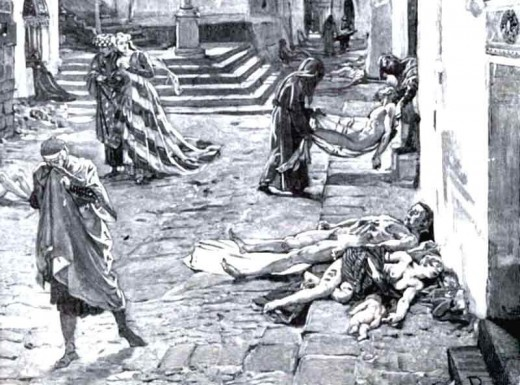The Bubonic Plague killed an estimated 25 million people in 5 years.