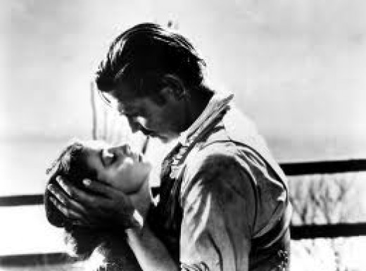 Rhett Butler and Scarlett in Gone With The Wind