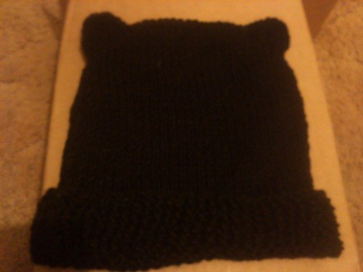 Kitty ear knit hat pattern
