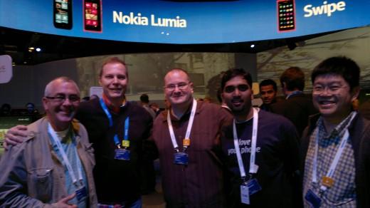 Me, Juha-Matti. Steve, Krishna & CJ, The Guys From Nokia Support Discussions