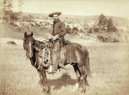 A cowboy from the 1800's.