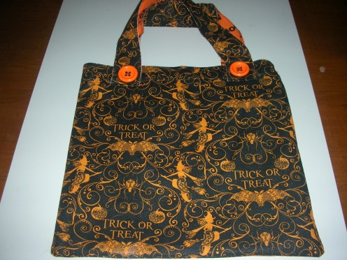 Completed tote bag