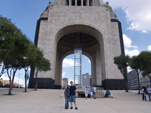 Me and my wife at Monumento a la Revolucion in 2011