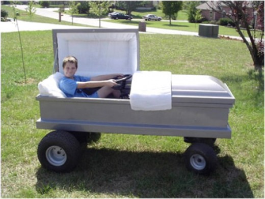 Turn your kids tractor into a coffin, easy!
