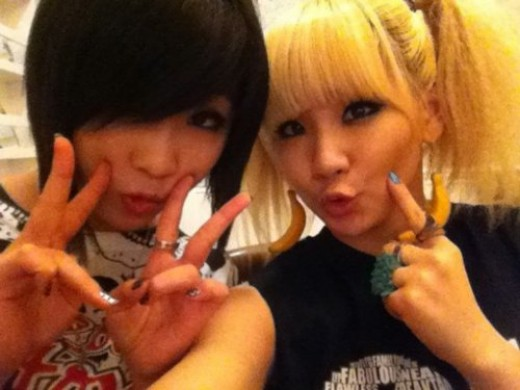 Minzy and CL 2ne1