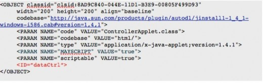 Add an Applet ID for JavaScript and DOM Access