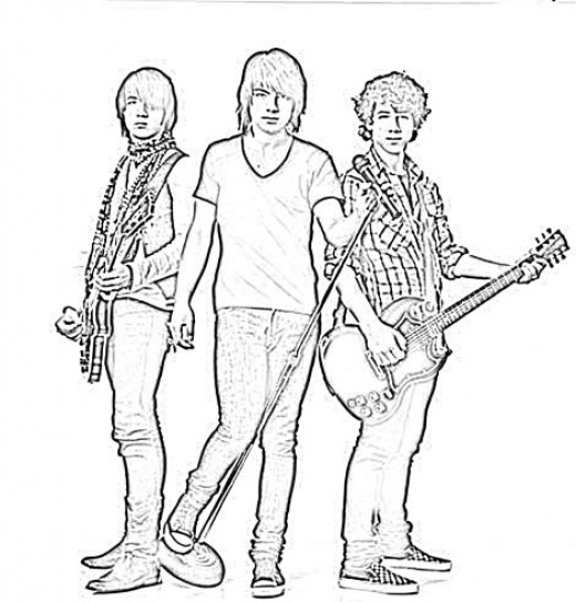 coloring pages of rock bands - photo#11