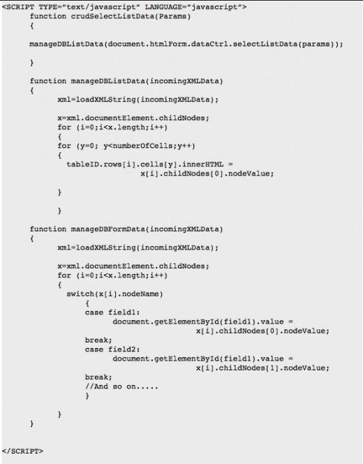 JavaScript CRUD Operations