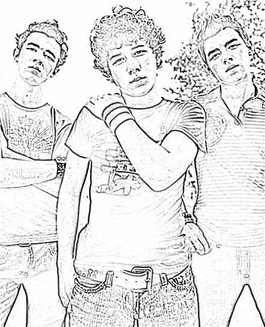 jonas brothers printable coloring pages - photo#4